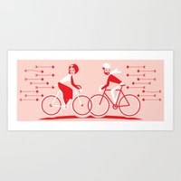 Cupid's plan Art Print