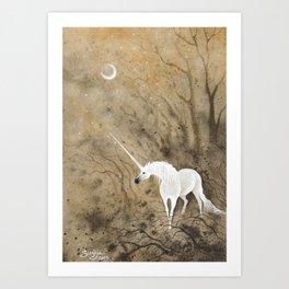 Junicorn - Cendre Art Print