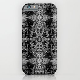 Sunflowers - Mehndi Paisley Floral Abstract Art - Black White #1 iPhone Case