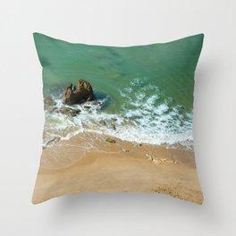 Rock in the Atlantic Ocean Throw Pillow