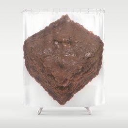 Chocolate Brownie Shower Curtain
