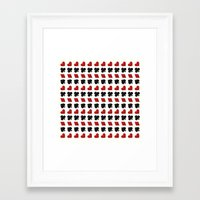 suits Framed Art Prints featuring Card Suits by •ntpl•