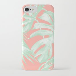 Island Love Coral Pink + Light Green iPhone Case