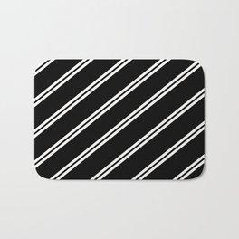 Team Colors 1...black and white Bath Mat
