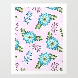 Tropical Leaves Jungle #floral #pattern #society6 Art Print