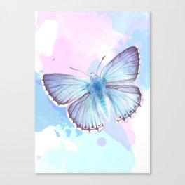 Blue Lagoon Splash Canvas Print