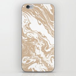 Masago - spilled ink abstract marble painting watercolor marbling cell phone case iPhone Skin