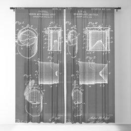 Vintage Minnow Bucket Patent Sheer Curtain