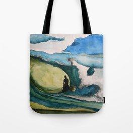 Watercolor Surfer Tote Bag