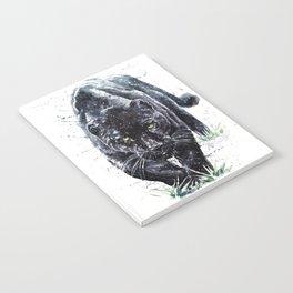 Panther watercolor painting predator animals puma Notebook