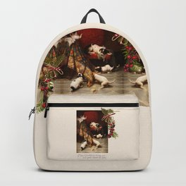 Pet Lover Christmas Greeteengs Backpack