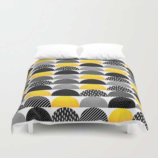My favorite candy / Black & Yellow Duvet Cover