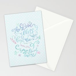 You Are Loved Mom - Number 6:24 - Polka dots Stationery Cards