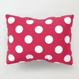 Red and Polka White Dots Pillow Sham