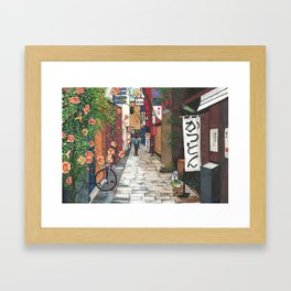Flowers in an Alley Framed Art Print