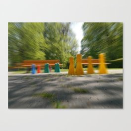 Raindrop play Canvas Print