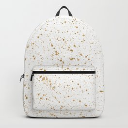 Pretty White and Gold Speckled Pattern Backpack