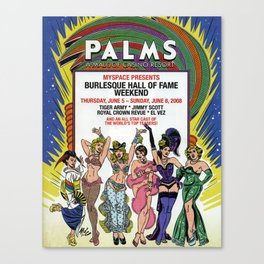 """""""Burlesque Hall of Fame Weekend 2008"""" by Mitch O'Connell Canvas Print"""