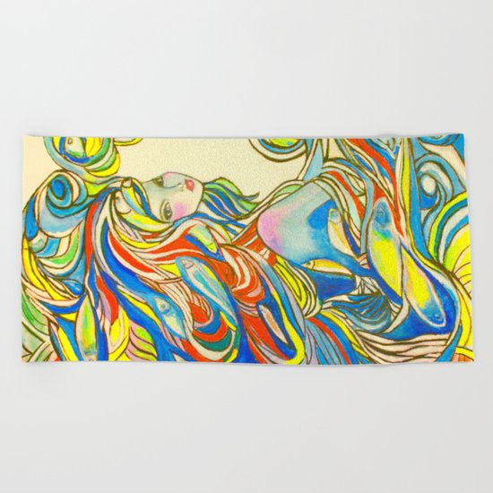 By Your Side Beach Towel