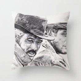 butch cassidy and the sundance kid Throw Pillow