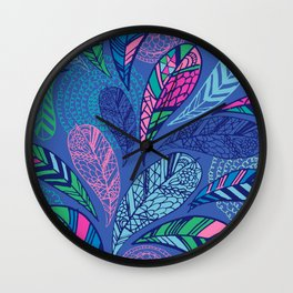 Feather Doodle Wall Clock