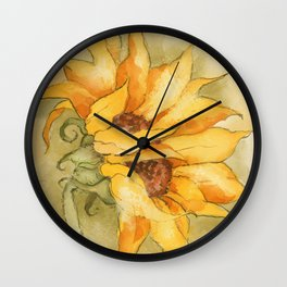 Fresco Sunflower Wall Clock