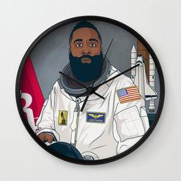 The Beard in Space Wall Clock
