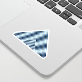 Shades of Blue Abstract geometric pattern Sticker