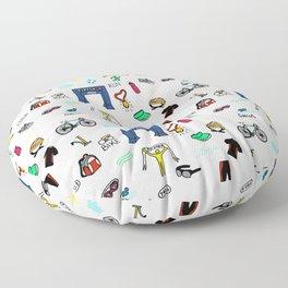 Triathlon Doodles Floor Pillow