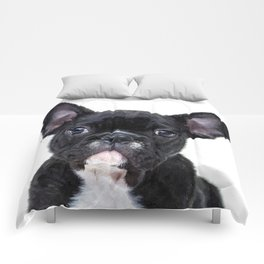 French bulldog portrait Comforters