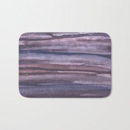 Violet brown streaked watercolor Bath Mat