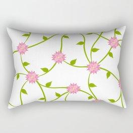 Flowers on a Vine Rectangular Pillow