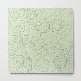 Topographic Map 03B Metal Print