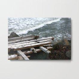 Raft on the Rocks Metal Print
