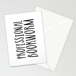 Professional bookworm Stationery Cards