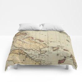 Vintage Map of The Bahamas (1823) Comforters