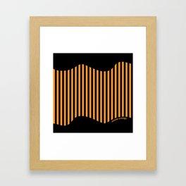 Etoide Jingga Orange Black Stripes Framed Art Print