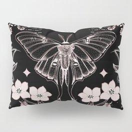 Bohemian Luna Moth On Black Pillow Sham