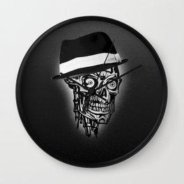 Elegant Skull with hat, B&W Wall Clock