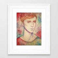 kieren walker Framed Art Prints featuring Kieren II by FlockeInc