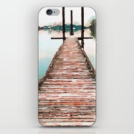 Stroll on the Dock at Sunset iPhone Skin