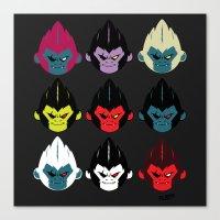gorillaz Canvas Prints featuring Gorillaz by DexDexign