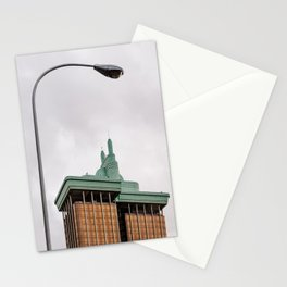 Modern architecture building in Madrid Stationery Cards
