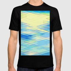 Re-Created Vertices No. 8 by Robert S. Lee MEDIUM Black Mens Fitted Tee