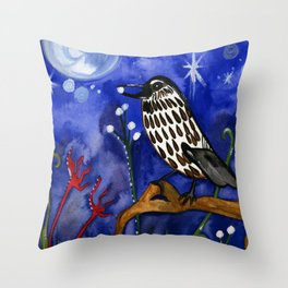 Silver Moon Berries Throw Pillow