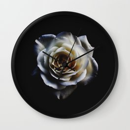 WHITE - ROSE - NATURE Wall Clock