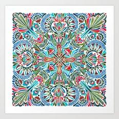 The middle of the Earth mandala Art Print
