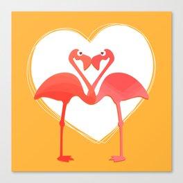 lovebirds - flamingos in love Canvas Print