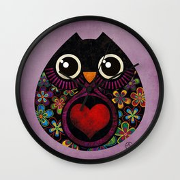 Owls Hatch Wall Clock