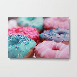 Lavender And Pink Donuts Metal Print